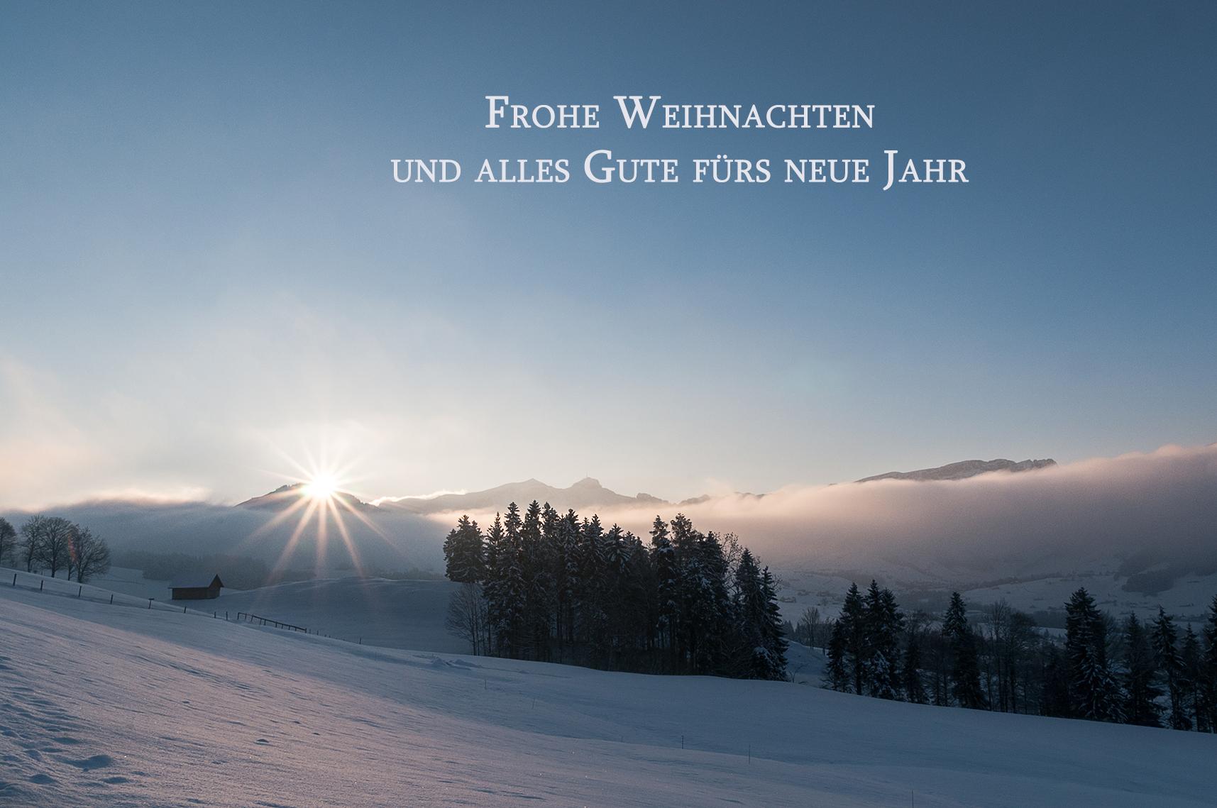Frohe Weihnachten und alles Gute für das neue Jahr 2017 wünscht Seelen-Reise.ch Reinkarnationstherapie